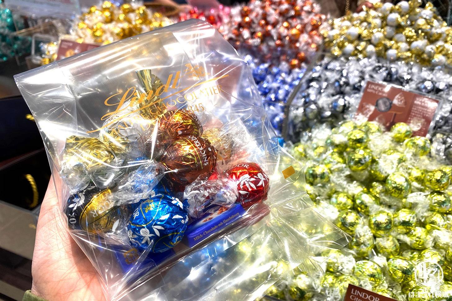 購入した量り売りのチョコレート