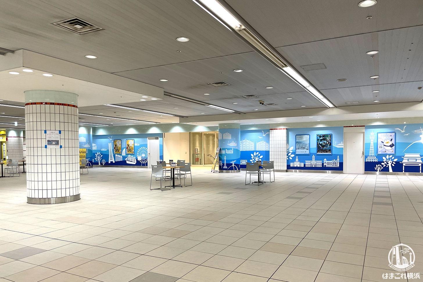 """横浜駅地下2階""""南北連絡通路""""のJR横浜タワー接続口が開放!みなとみらい線そば"""