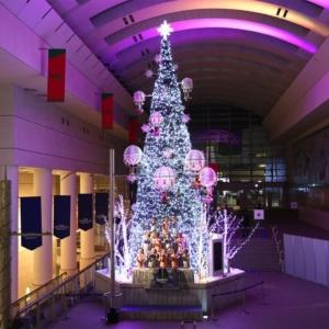 2020年クイーンズスクエア横浜のクリスマスツリー点灯!光と音色で幻想的に