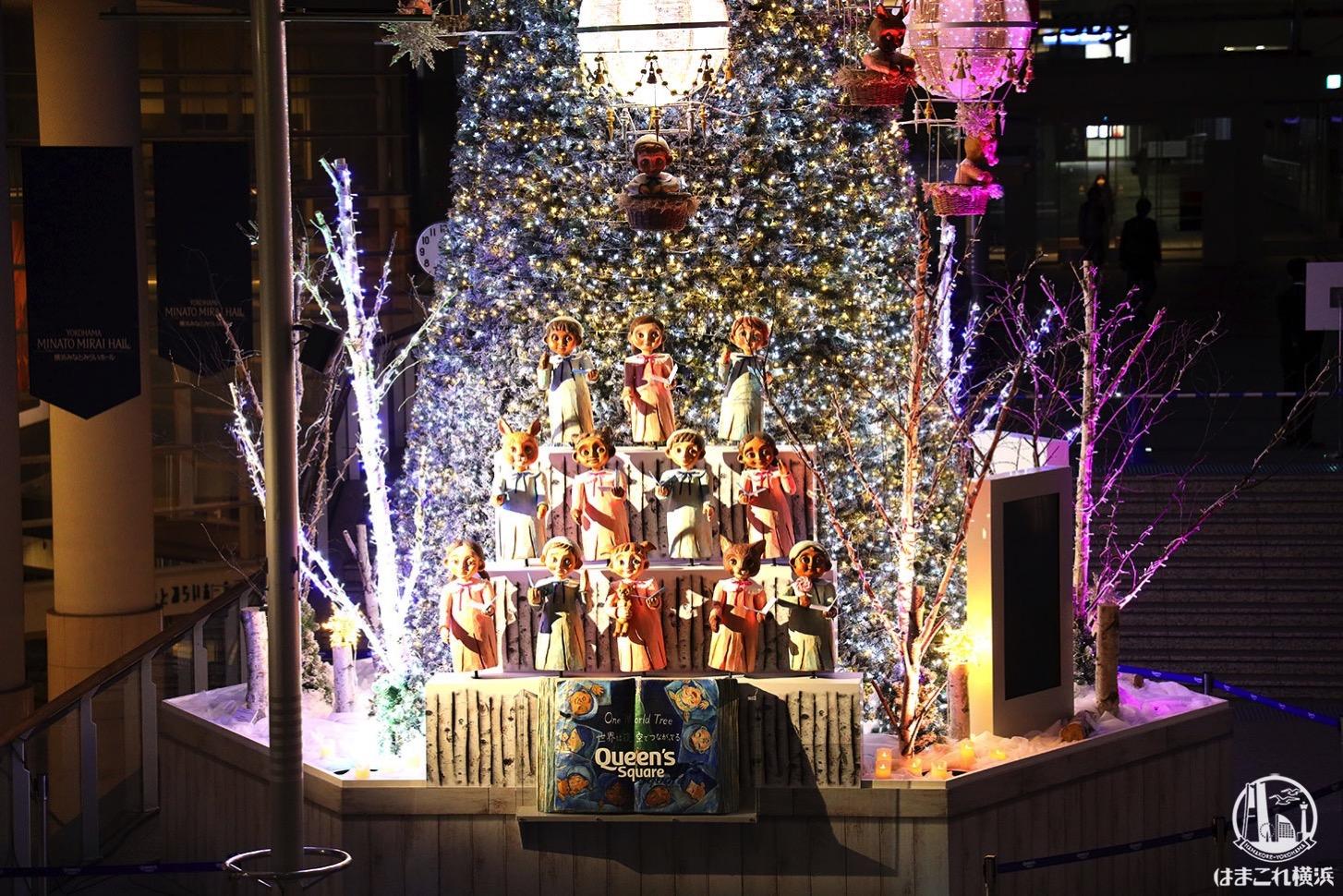 クリスマスツリー 踊り出す人形たち