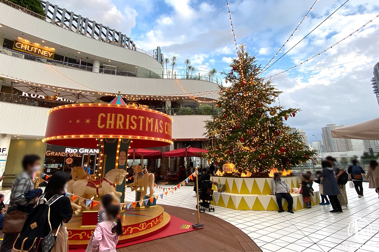 横浜ベイクォーター「クリスマスツリー」