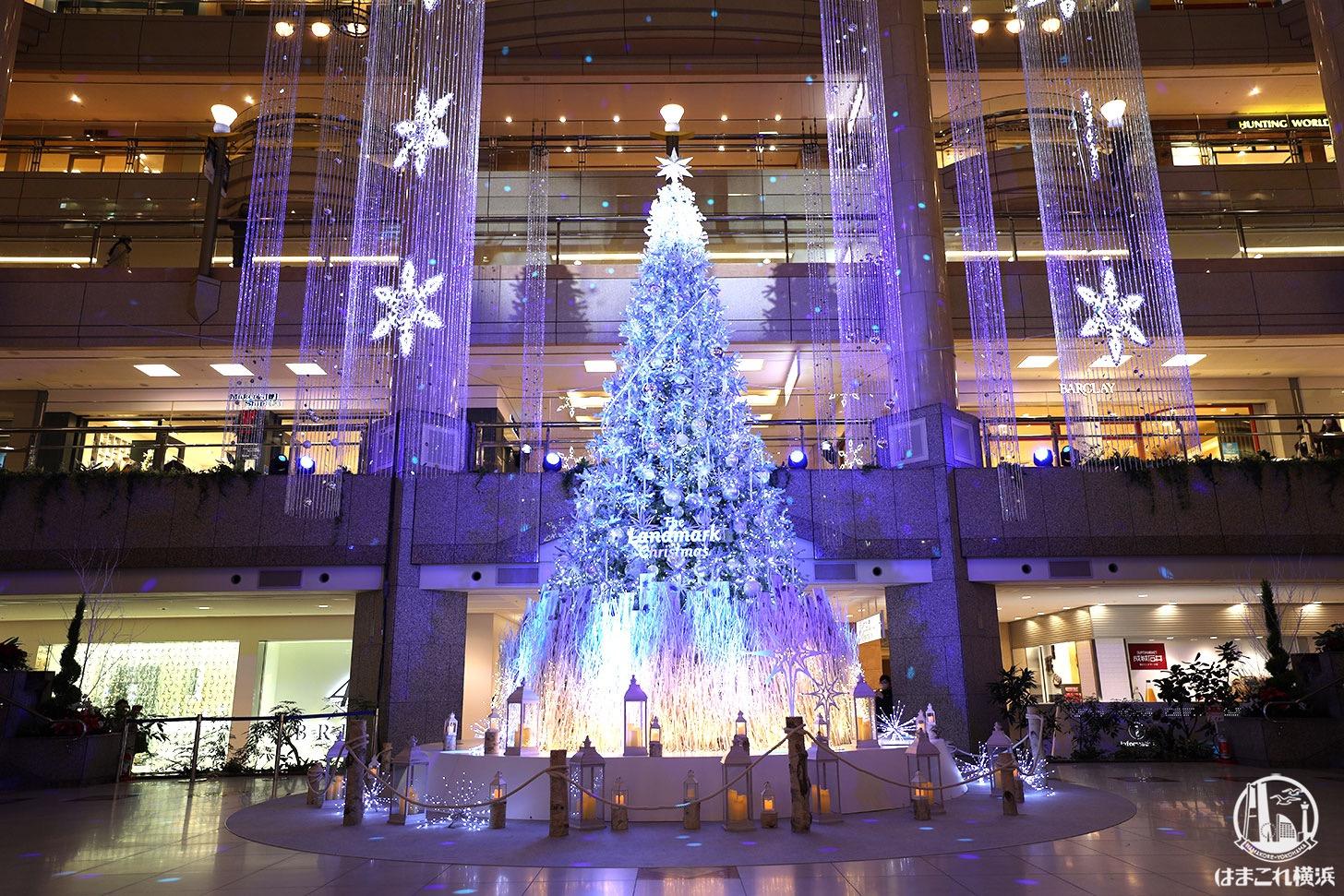 2020年横浜ランドマークプラザ「クリスマスツリー」が点灯!1日4回ライトアップショー