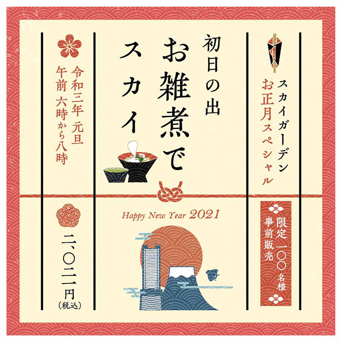 2020年元日 横浜ランドマークタワー「初日の出」特別観覧チケット数量限定発売!