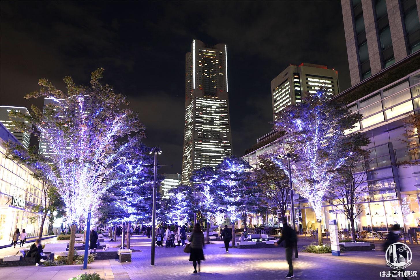 横浜ランドマークタワーとヨコハマミライト