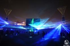 横浜スタジアムのボールパークファンタジアが光と音とスモークで圧巻演出!新感覚イルミ