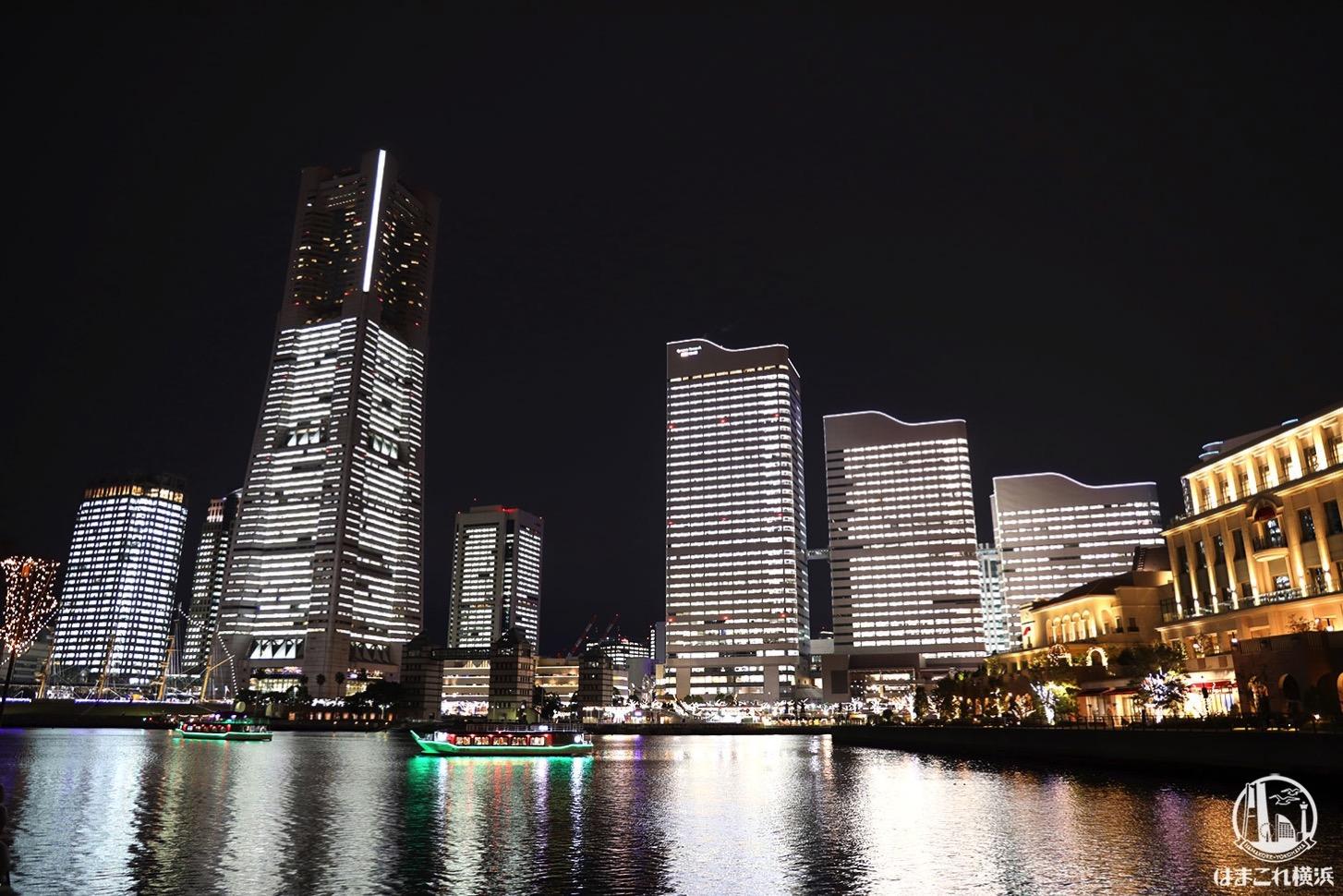 横浜の全館点灯「タワーズミライト」万国橋から汽車道、横浜駅方面まで夜散歩!