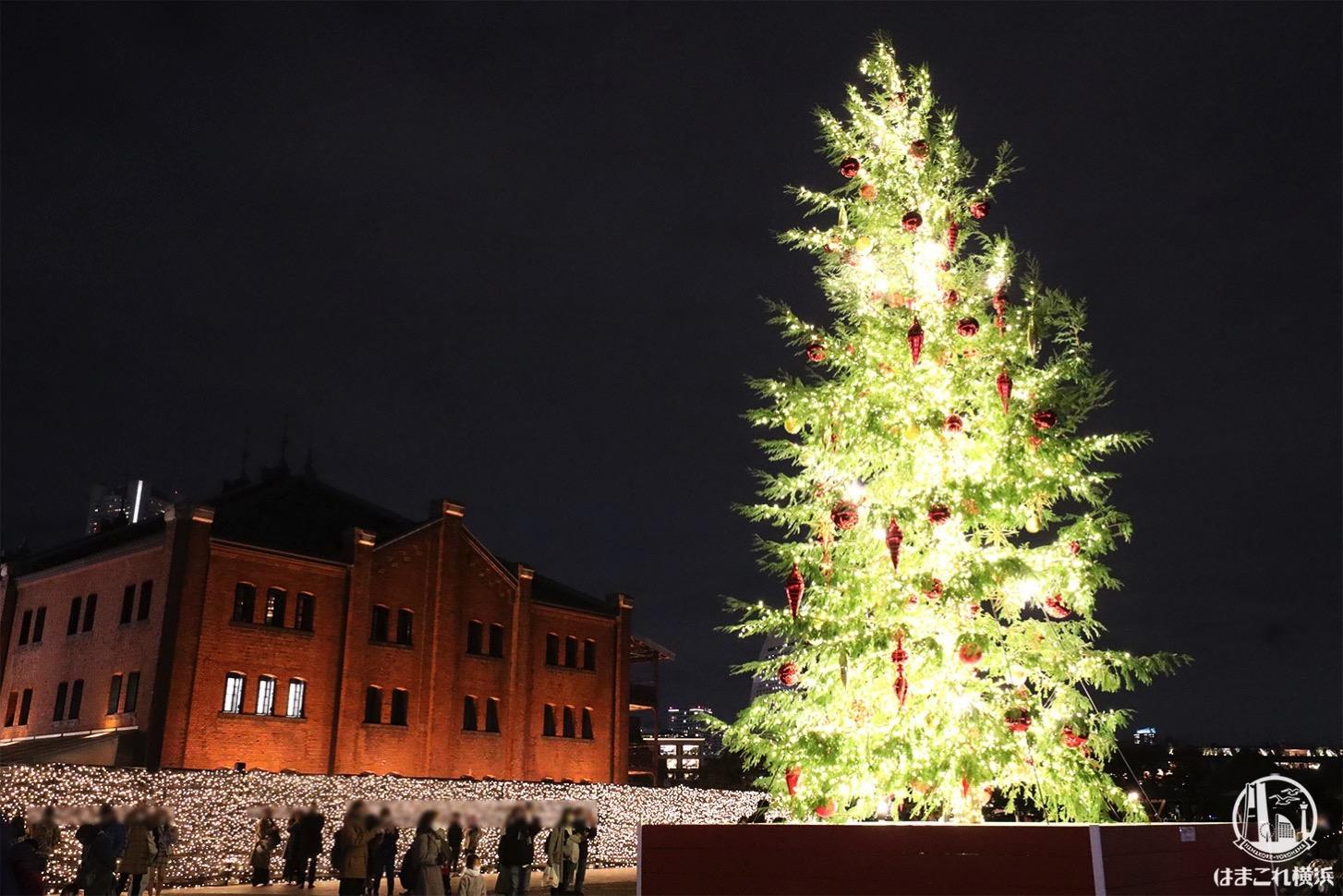 横浜赤レンガ倉庫 2020年クリスマスツリー