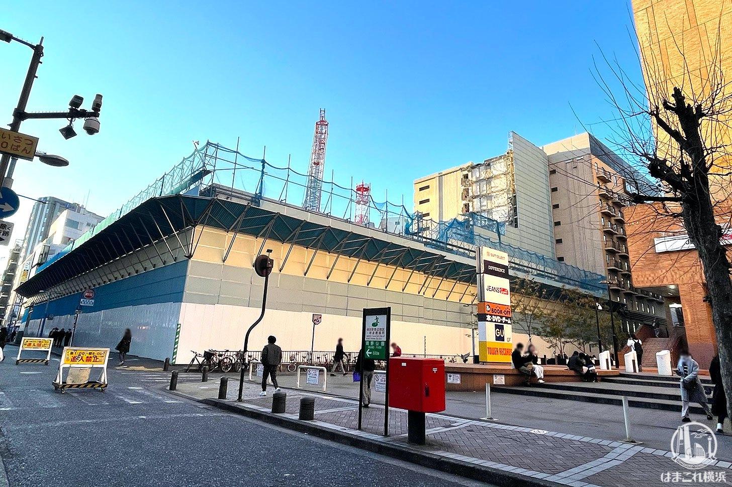 横浜駅西口ダイエー 2021年1月の様子