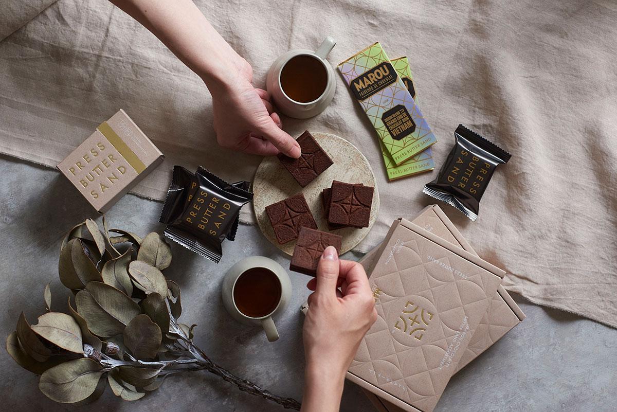 「バターサンド〈MAROU チョコレート〉&タブレット」「バターサンド2種詰合せ〈MAROU チョコレート〉」