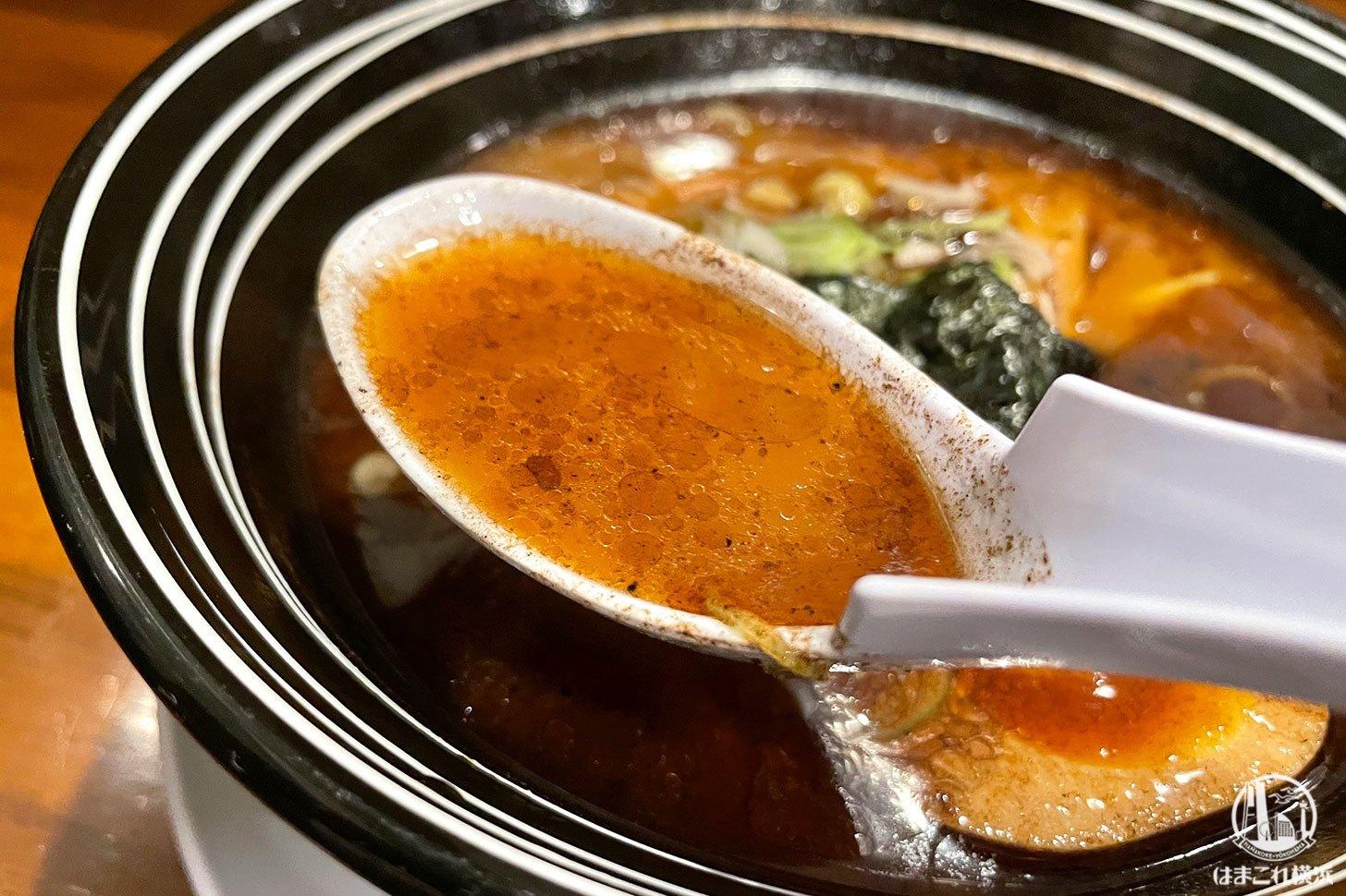秀鳳黒らーめん スープ