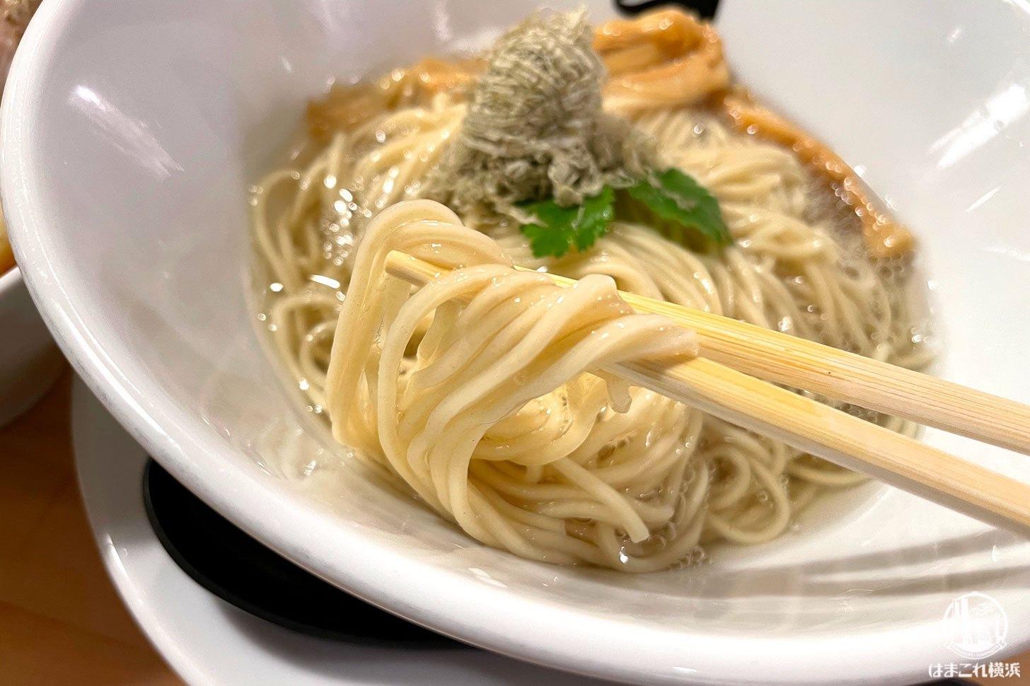 昆布水で食べるつけ麺