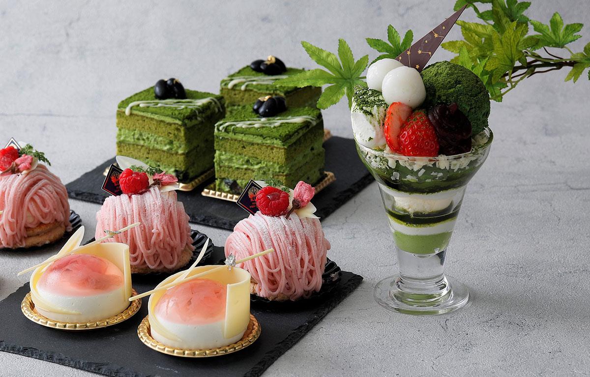 横浜・ホテルニューグランド「春のスイーツフェア」抹茶パフェや桜モンブランなど