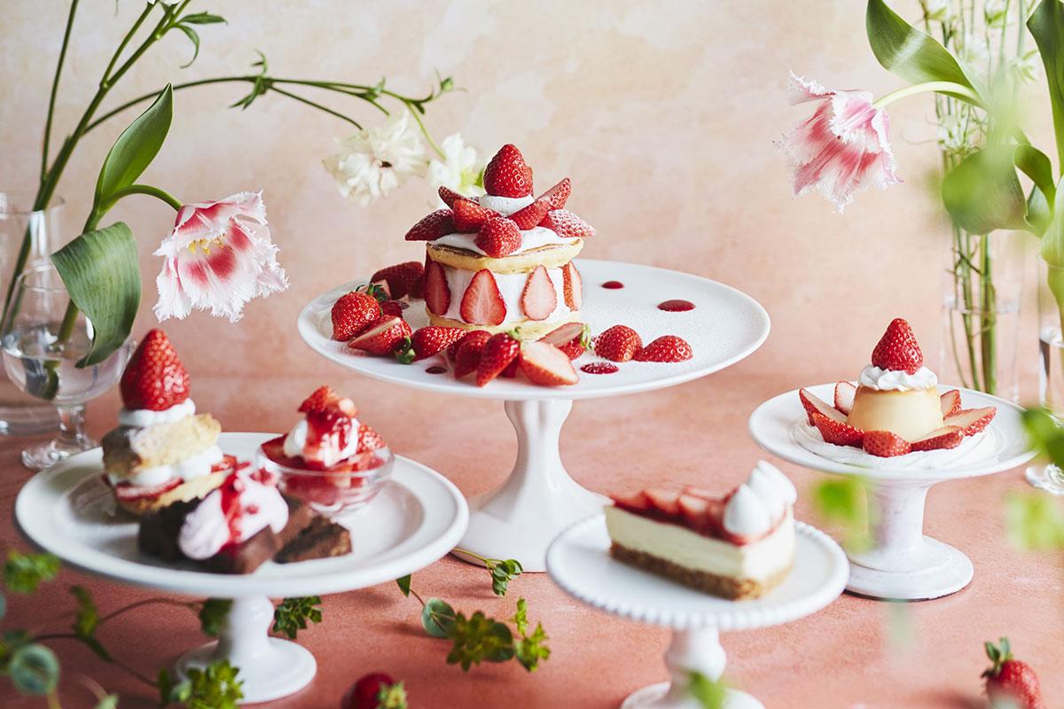 J.S パンケーキカフェ「ストロベリーフェア」開催!いちご増量DAYも