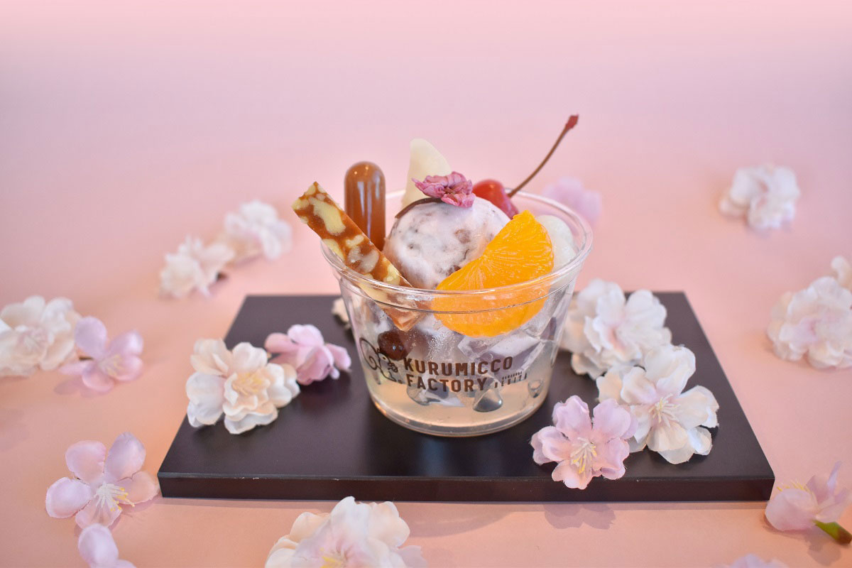 鎌倉紅谷・横浜ハンマーヘッドのカフェ「花咲きあんみつ」新発売!花の香り