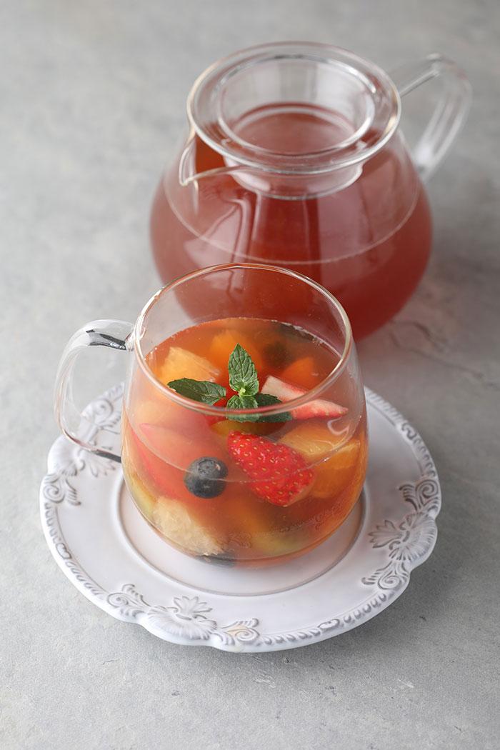 果実を味わうミックスフルーツティー