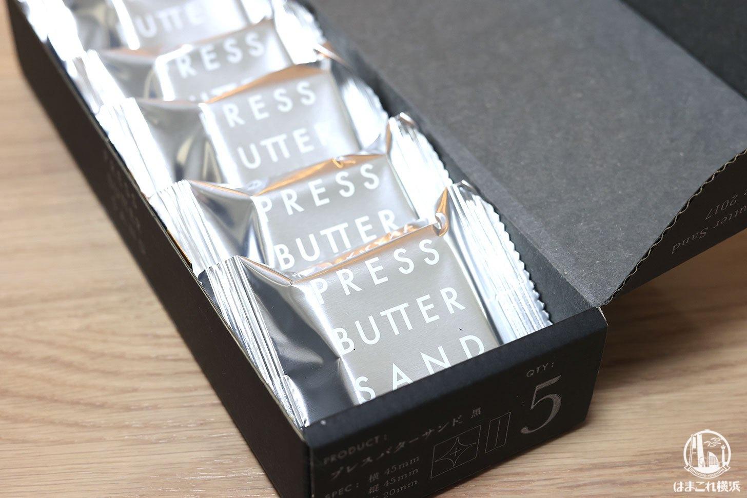 バターサンド黒のパッケージ