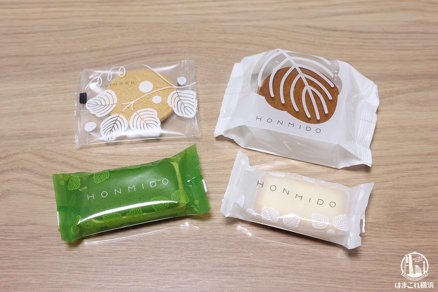 HONMIDOの菓子4種類