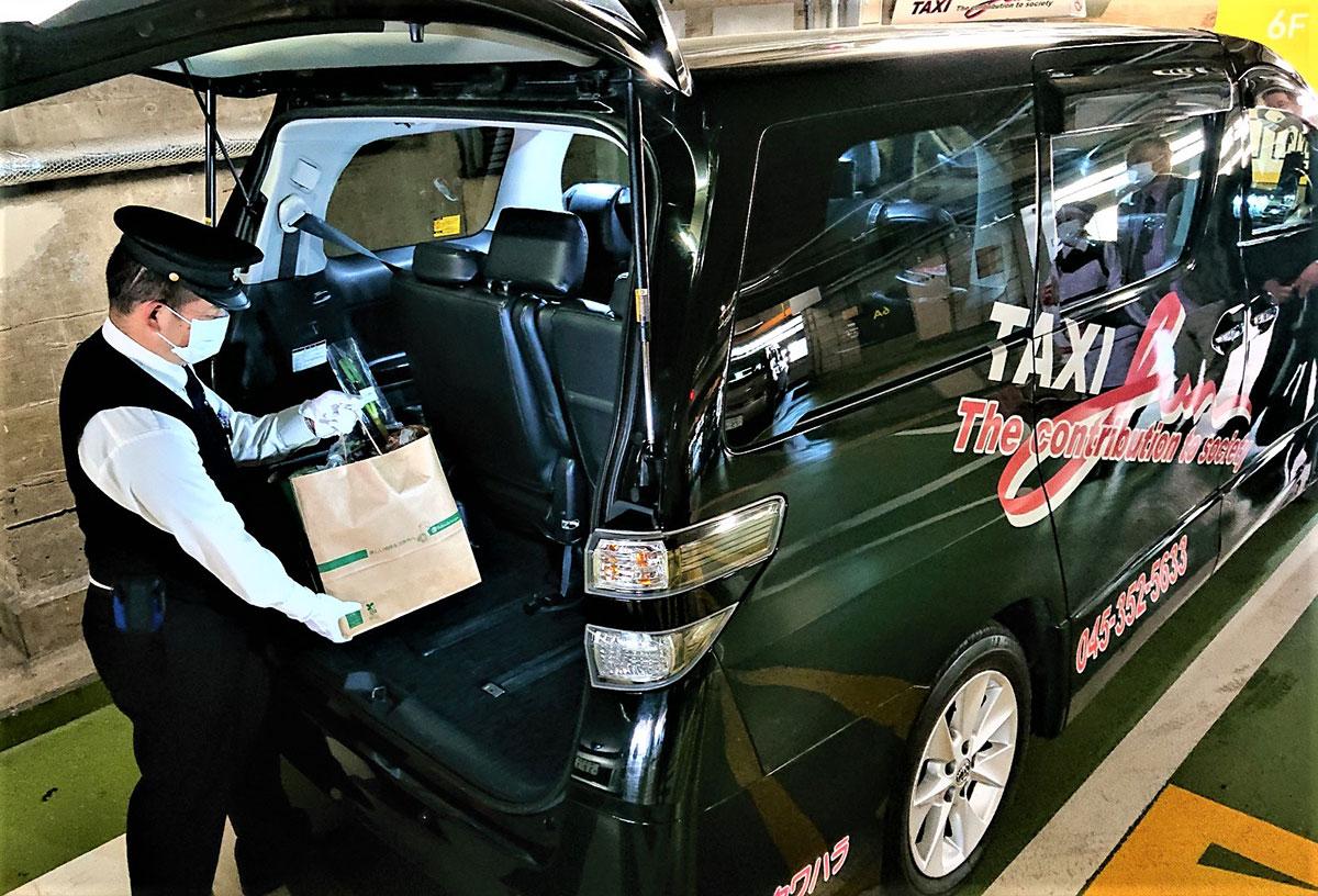 横浜高島屋、地元・横浜のタクシーと協業で生鮮食料品の即日配達サービス開始!
