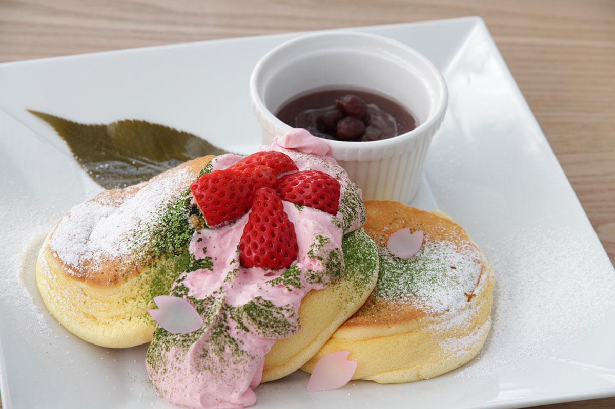 幸せのパンケーキ「幸せの桜パンケーキ」限定販売!横浜中華街店など25店舗
