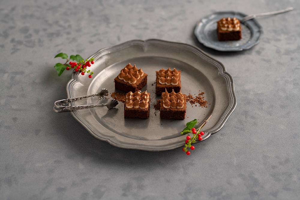 キュート キューブ ケーキ チョコレート