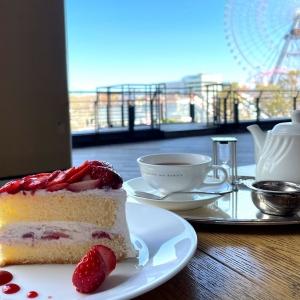 ル サロン ド ニナス横浜みなとみらいはテラス席が心地良い!苺たっぷりケーキと大観覧車