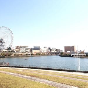 日本丸メモリアルパーク芝生側は絶景のウォーターフロント!大観覧車目の前・癒しの無料スポット