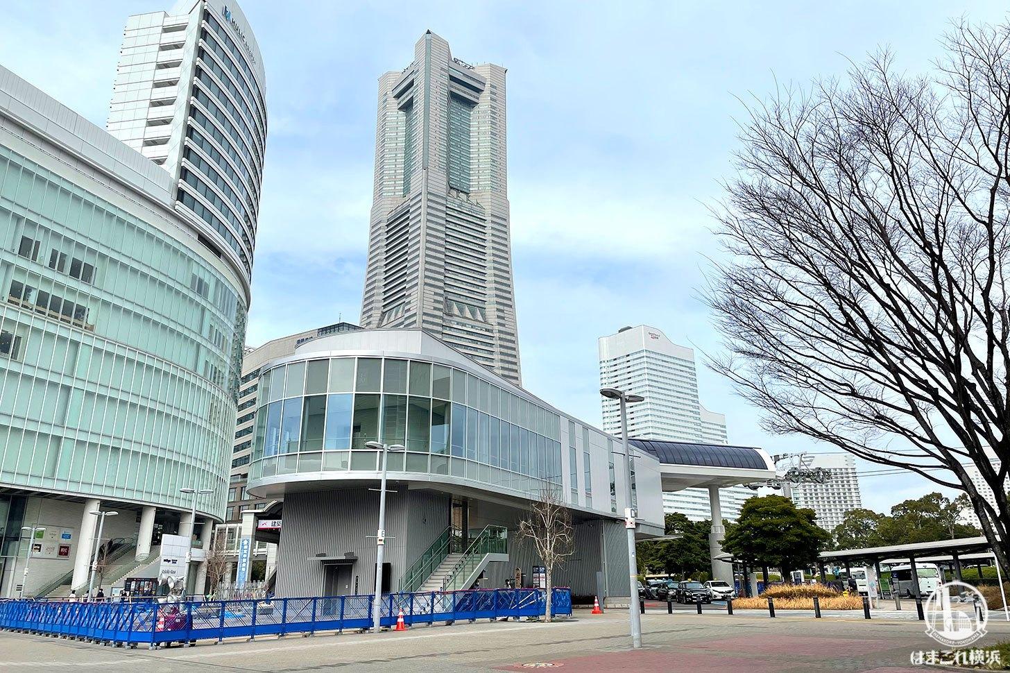 横浜・桜木町駅前のロープウェイ駅舎、外観お目見え!