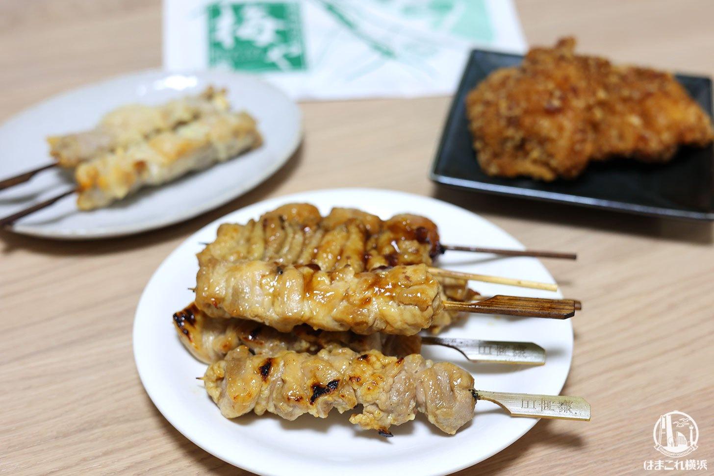横浜「梅や」老舗鶏肉専門店が作る焼き鳥テイクアウト!鶏の惣菜豊富・精肉売場隣接