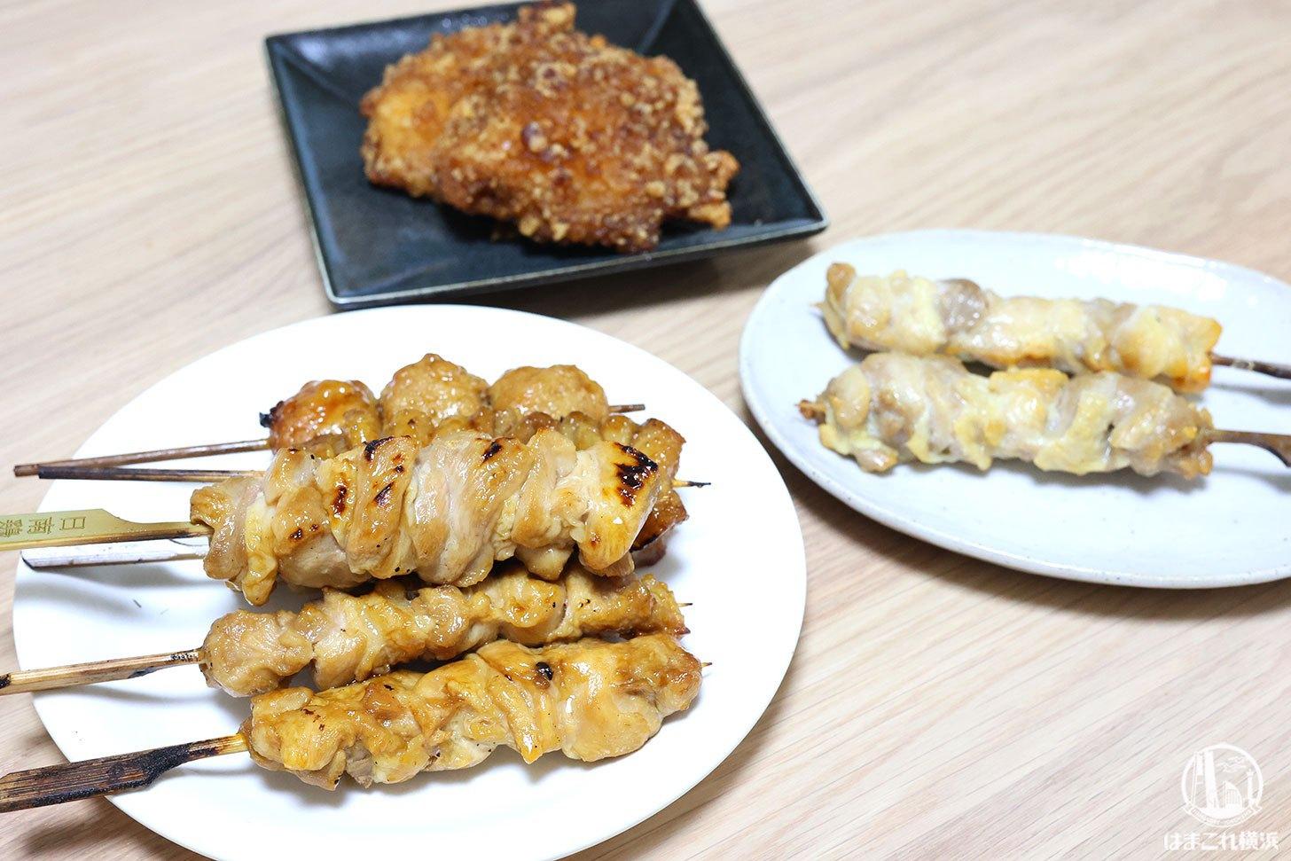 老舗鶏肉専門店「梅や」テイクアウトした焼き鳥と唐揚げ