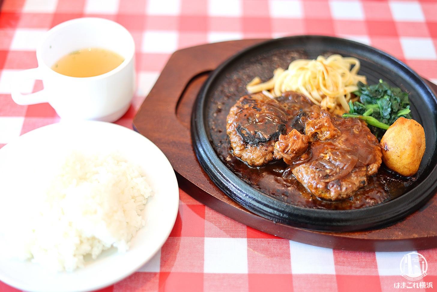 横濱大食堂で鉄板熱々ハンバーグランチ!横浜ランドマークタワーでカジュアル洋食を