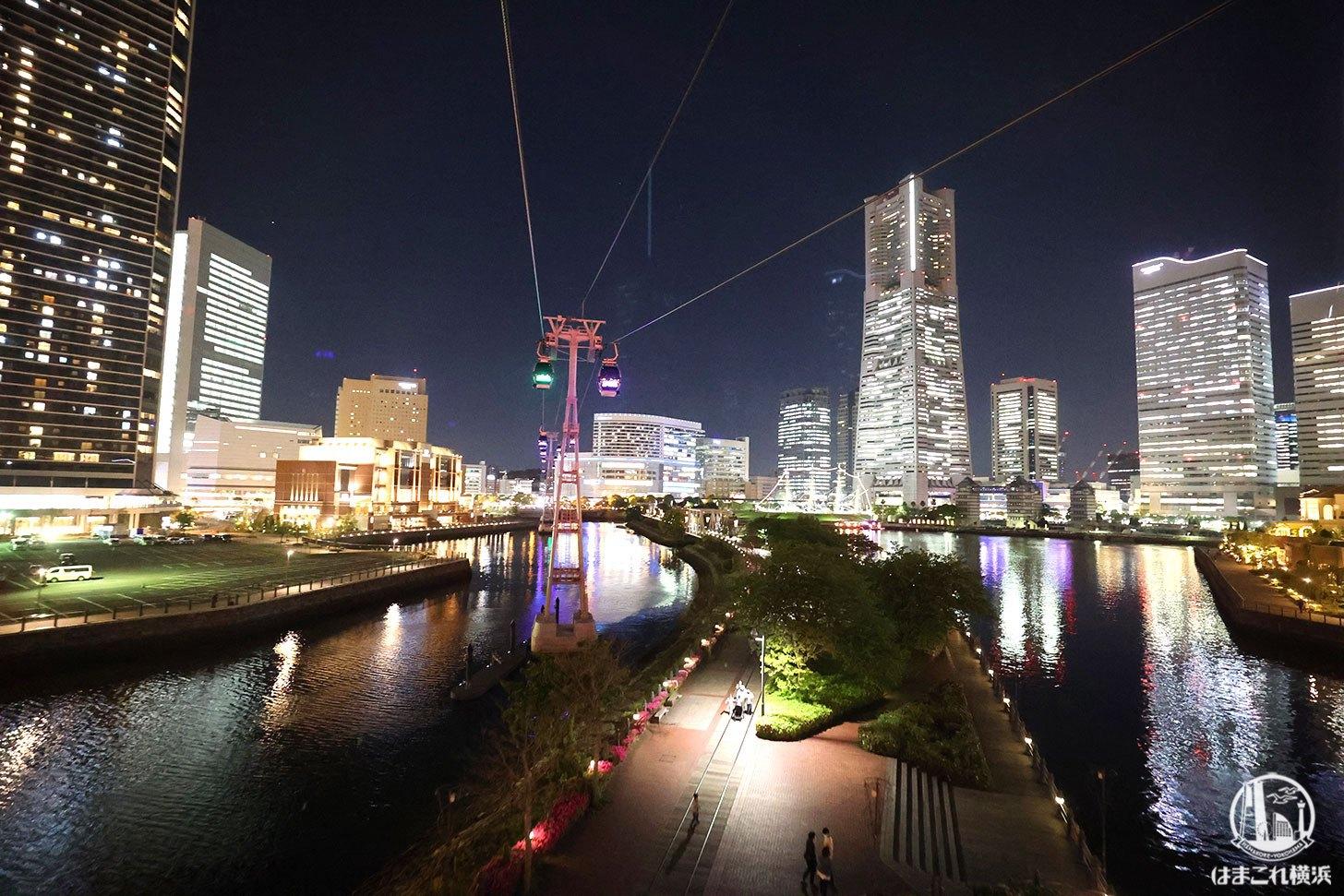 ゴンドラから見た夜景 横浜ランドマークタワー