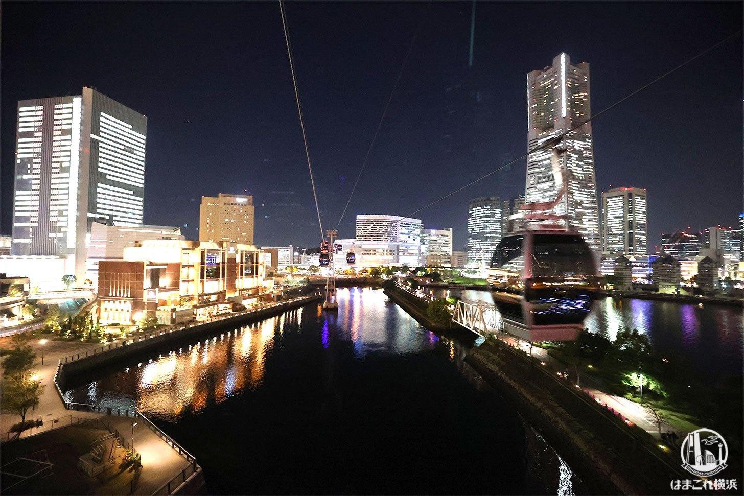 """横浜ロープウェイ""""エアキャビン""""夜は別世界!みなとみらいの新たな夜景スポット"""