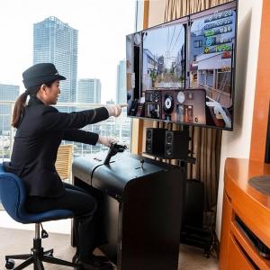 横浜ベイホテル東急に東急電鉄コンセプトルーム!客室には駅案内板や電車シミュレーター