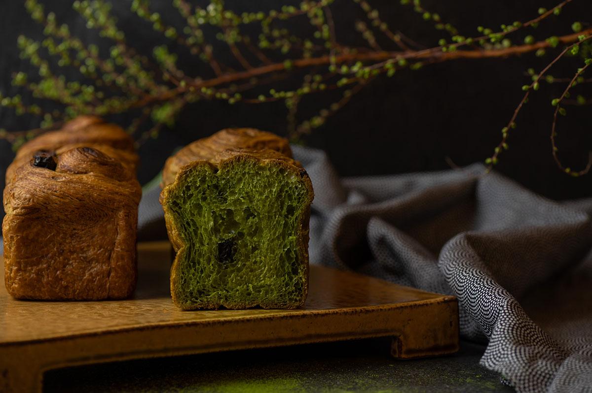 抹茶プレミアムデニッシュ食パン