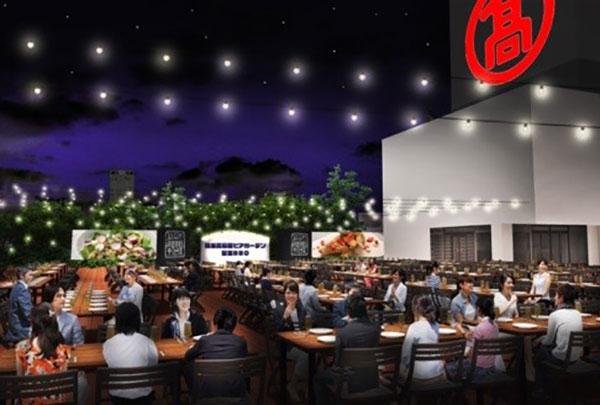 横浜高島屋でビアガーデン「星空GRILL」2021年は昼のドリンクプランや2つの夜プラン