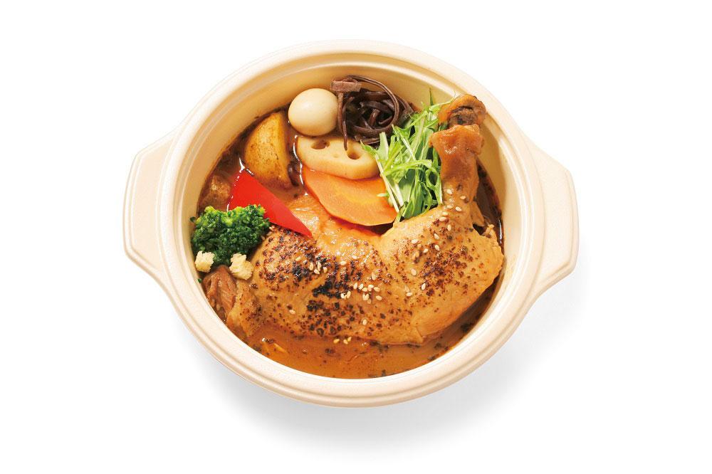 北海道産ジャンボチキンレッグと野菜のスープカレー 1,880円(各日40点限定)