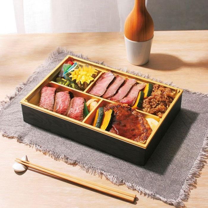 白老牛サーロインステーキを使った四種贅沢膳 3,240円(各日50点限定)