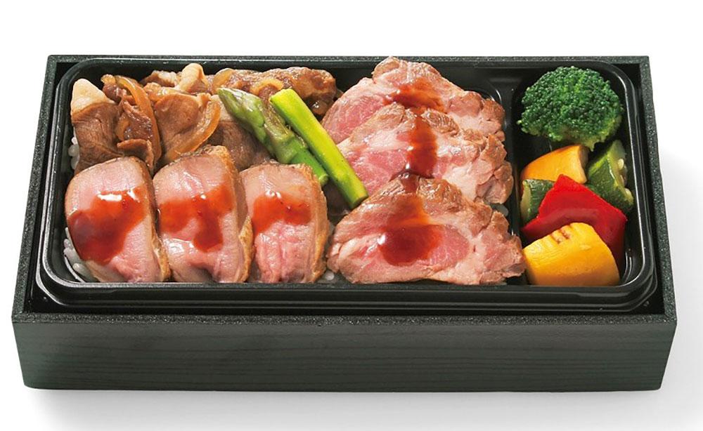 特選ラム肉3種弁当(ラム肉ステーキ・ラムタン・ラム肉のすき焼き)…1,980円