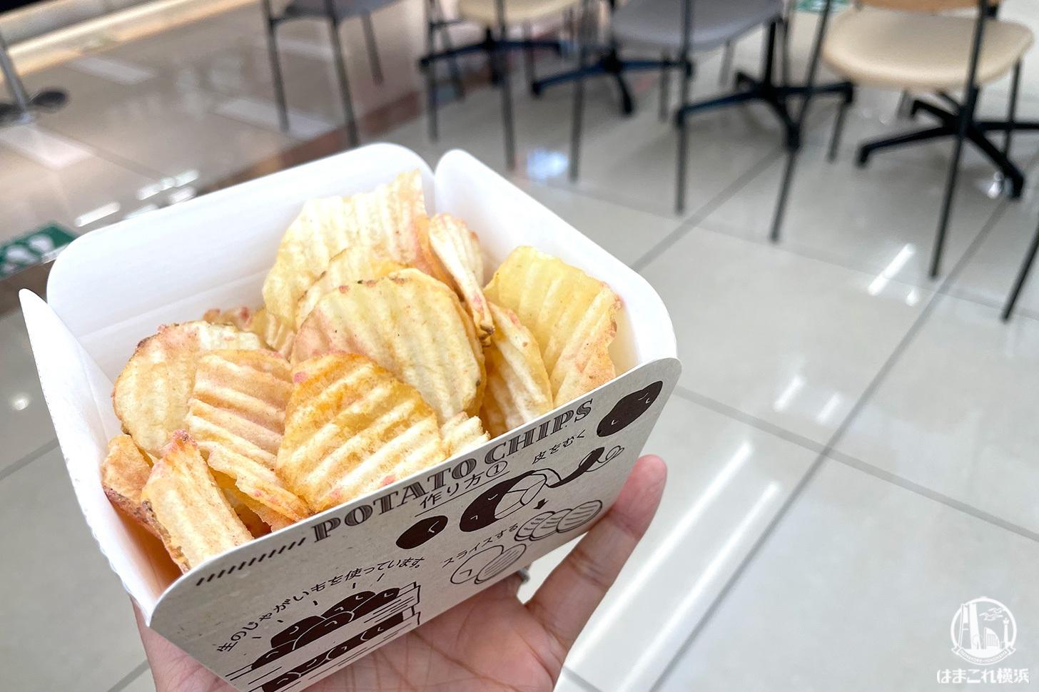 カルビーキッチン海老名SA店で焼きたてポテチ・店舗限定桜えび塩食べてみた!