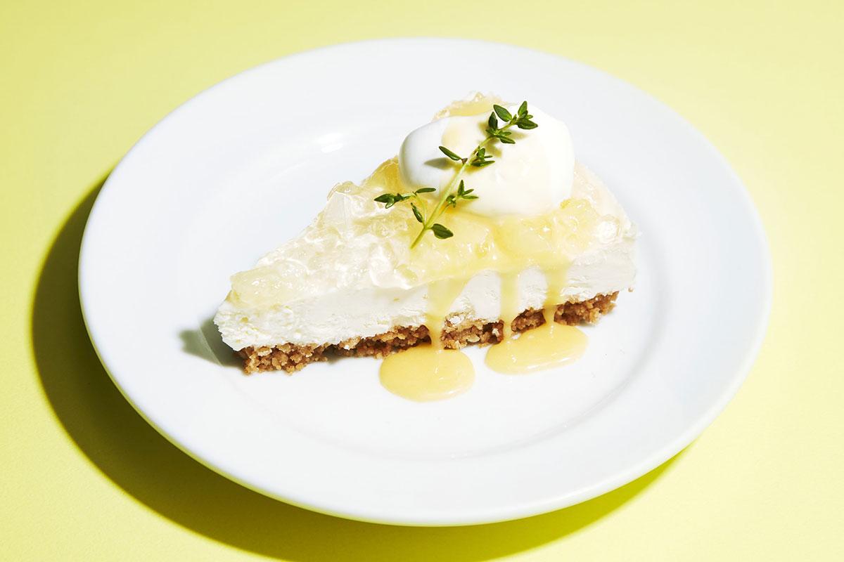 レモンレアチーズケーキ