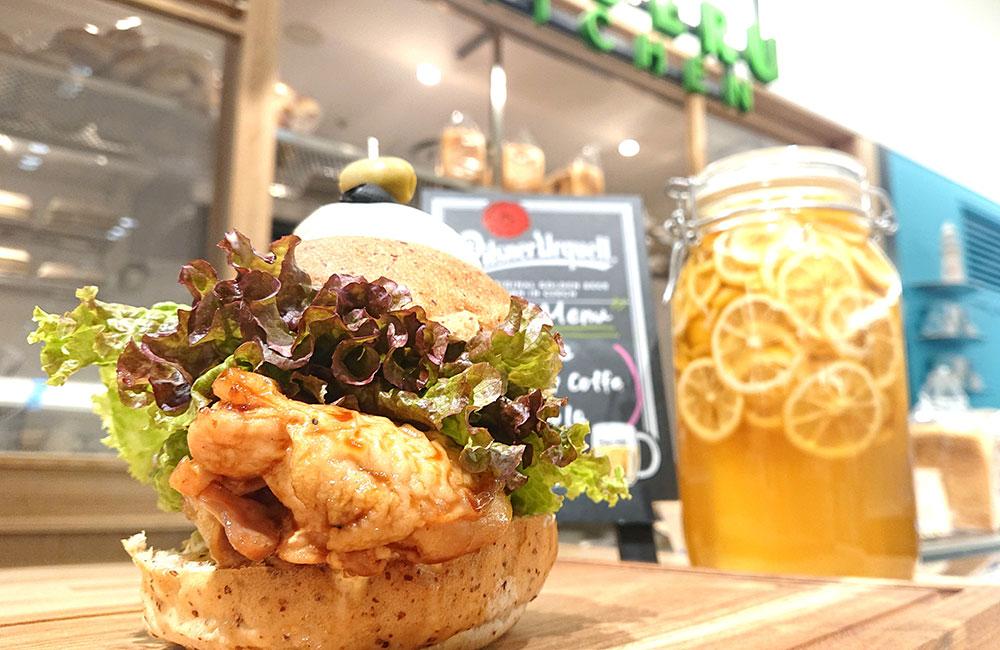 Torishige Chiken Burger(タレ)with クリームチーズ