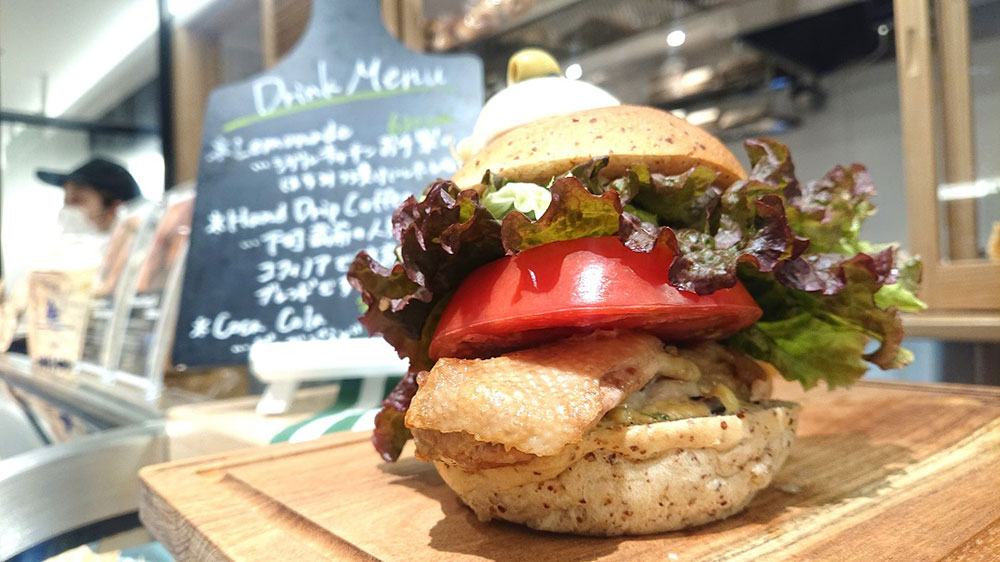 Torishige Chiken Burger(しお)with トマト