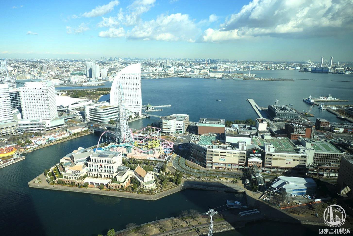 ザ・タワー横浜北仲 無料展望フロアから見た大観覧車