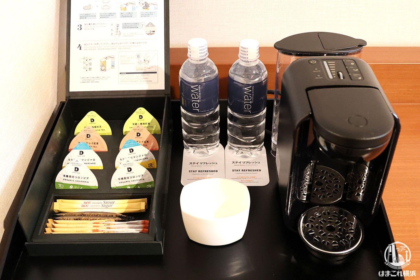 ラグジュアリーフロア「デラックスルーム」のコーヒーメーカー