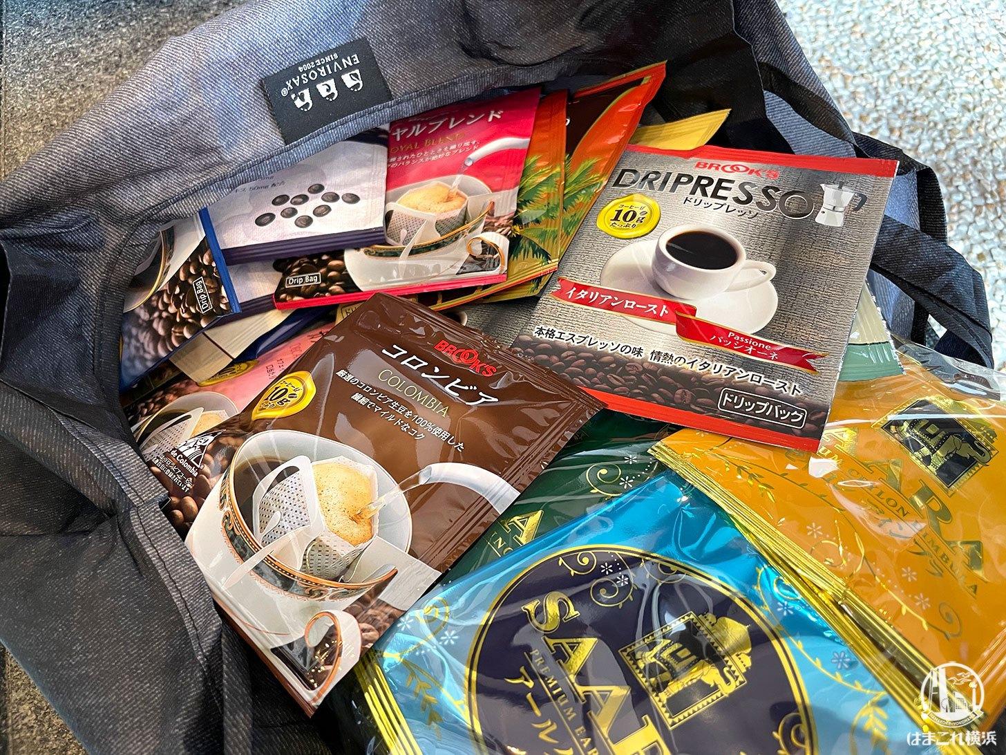 購入したブルックス コーヒーのドリップバッグ