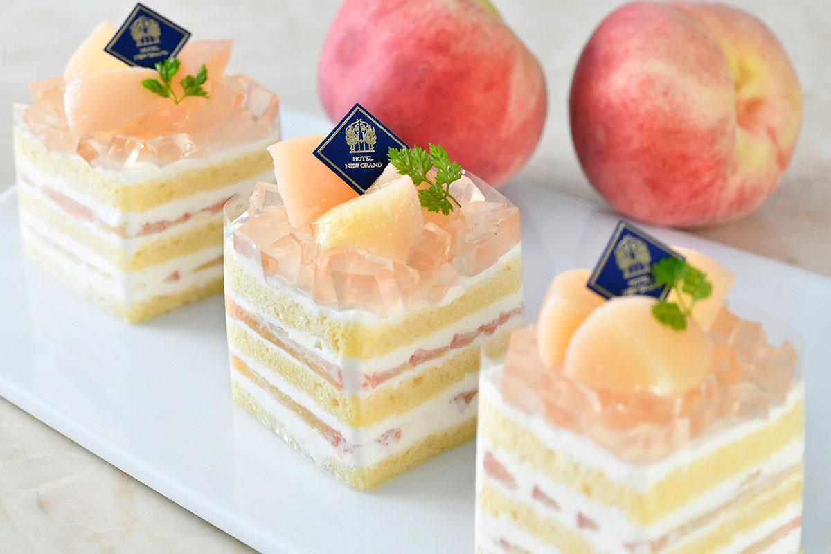 """横浜・ホテルニューグランドに""""桃""""のプレミアムショートケーキ販売!"""