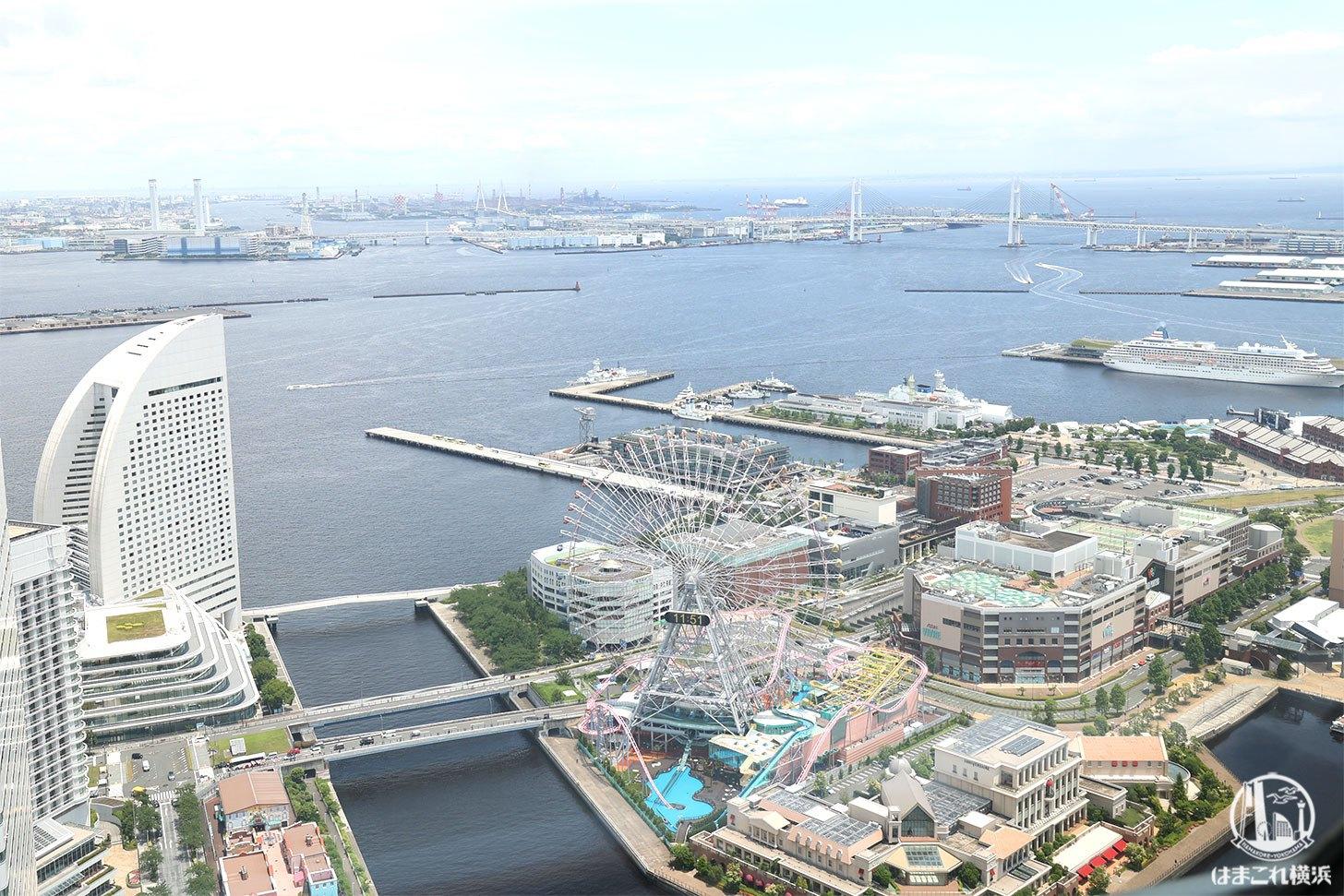 ランドマークスパから見た横浜の景色
