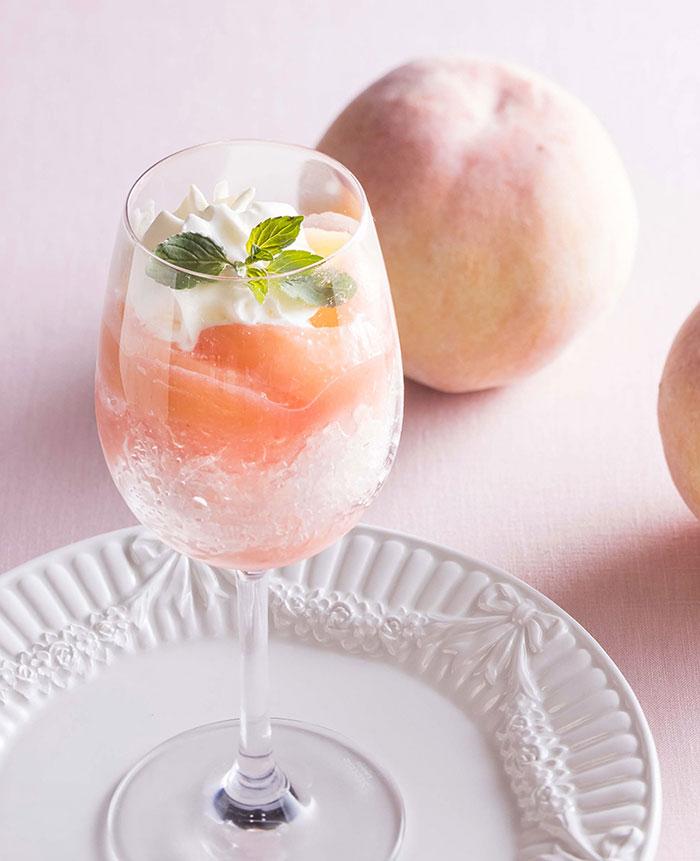 桃のミニかき氷
