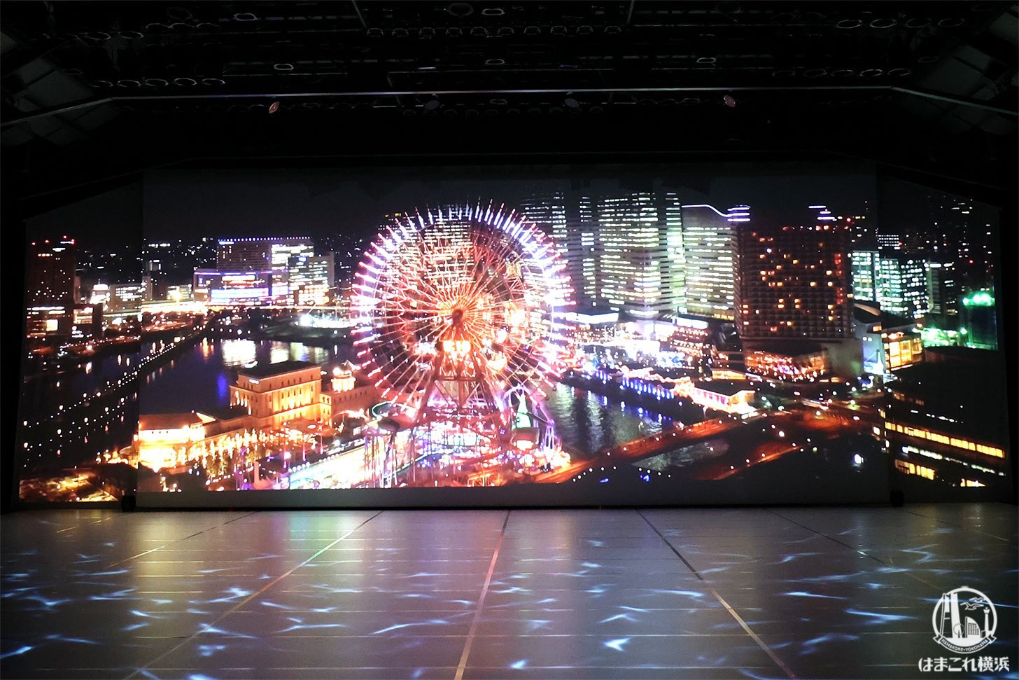 赤レンガ・アートプラネタリウム「星と歩く」横浜の夜景との融合