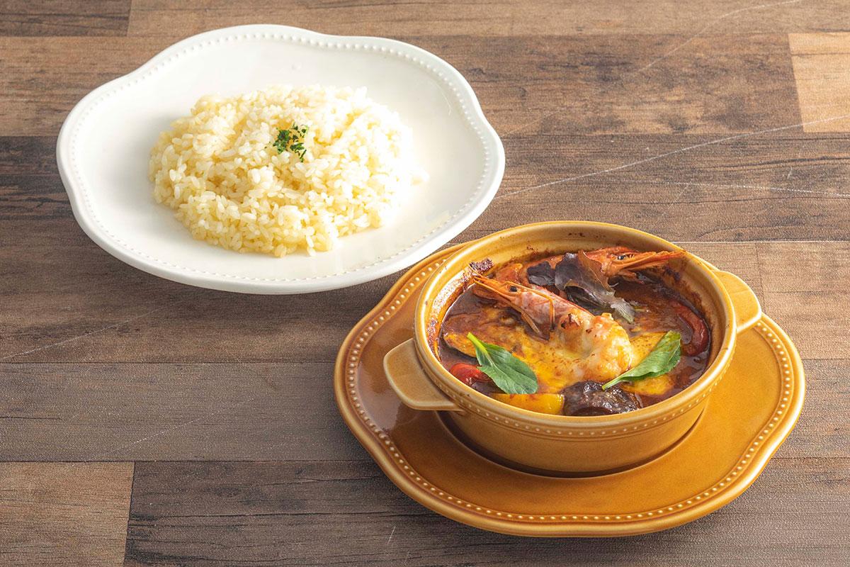 赤海老と夏野菜のオーブン焼きカレー(1,430円・税込)